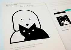 spca intuitive adoption experience : corey hall #icon #print #identity #spca #booklet