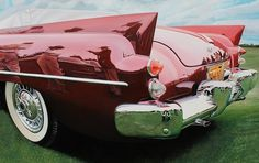 Realistic Old Polished Cars Paintings – Fubiz™ #painting #car #art #realistic