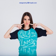 Female t-shirt print concept Free Psd. See more inspiration related to Mockup, Template, Woman, Fashion, Girl, T shirt, Shirt, Clothes, Mock up, Tshirt, Print, Fashion girl, Female, Young, Good, Up, Concept, Stylish, Looking, Wear, Mock and Good looking on Freepik.