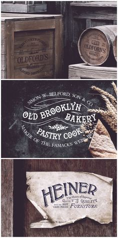 19th Century Vintage Logos 02  Inspired from the 19th century era, this carefully crafted logo templates will add a vintage yet fresh touch