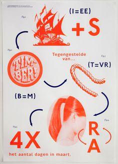 Adriaan Mellegers Graphic Design Studio #two #colour #poster