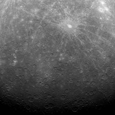 NASA Satellite MESSENGER Sends Back First Image of Mercury from Orbit | Flickr - Photo Sharing! #white #nasa #mercury #space #black #and