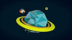 The Fox Is Black » BBC Knowledge Video Teaser #eyes #illustration #space