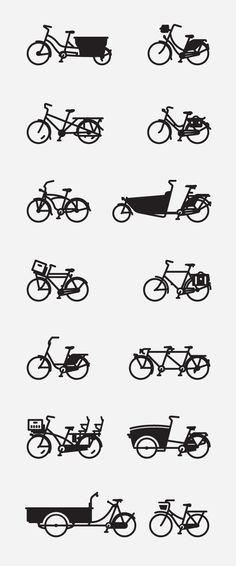 mkn design Michael Nÿkamp #wheels #bikes #line #drawingshttp #kinds #styles #dutch #of #designspirationnet #illustration #bike #fun #style