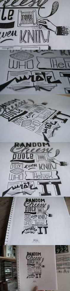 Tumblr #font #lettering #letters #handwriting #composition #type #hand #typography