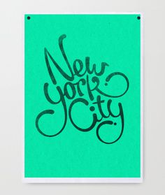 Mats Ottdal's Portfolio (via Typography Posters on Typography Served) #ny