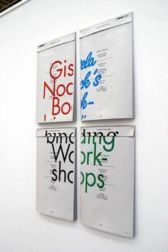 Gisela Noack's Bookbinding Workshops Poster - Daniel Joseph Harding #design #typography #poster #clever