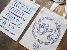 Typeverything.com -Â Bags by Ivaylo Nedkov. - Typeverything #print #rope #totebag #wood #illustration #ivaylonedkov #typography