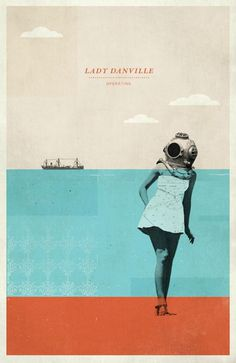 Lady Danville Gig Poster by Concepcion Studios #gig #poster