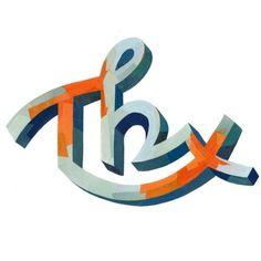 "Typeverything.com - ""Thx"" by Darren Booth - Typeverything #typedesign"