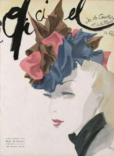 L`Officiel France no. 245 January 1942 | MODESQUISSE #fashion #illustration #vintage