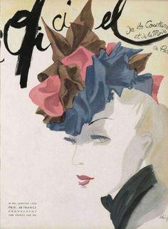 L`Officiel France no. 245 January 1942 | MODESQUISSE #fashion #illustration #vintage
