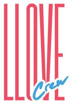 LLOVE crew #typography #type #summer #text #80s