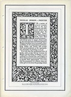 Linotype Nicholas Jenson type specimen