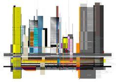 Skyline #vector #city #graphic #illustration #poster #art