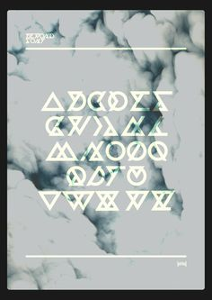 Beyond Font - Hadrien Degay Delpeuch #font #vector #experimental #minimal #typo #unreadable
