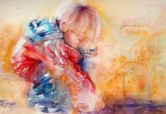 The Magic of Watercolour Painting Virtual Gallery - Jean Haines, Artist - Figures #painting #watercolor #child #art