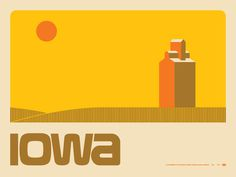 Draplin #iowa #illustration #poster #typography