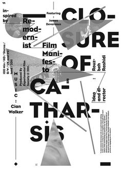 closure-of-catharsis.jpg (JPEG Image, 368x525 pixels) #white #black #posters #type #face #typography