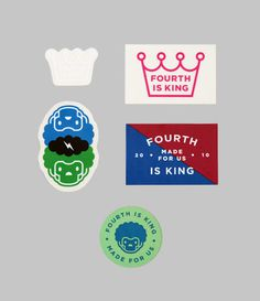 Fourth is King Sticker Pack 2 #logos #stickers #design #streetwear #fashion #graphics