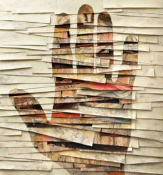 Hand built with pieces of paper. #paper #hand