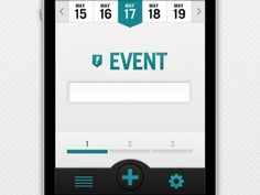 Dribbble - App - Event Page by Jeremey Fleischer #app