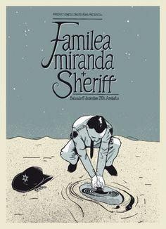 GigPosters.com - Familea Miranda - Sheriff #miranda #hernando #poster #daniel #familea