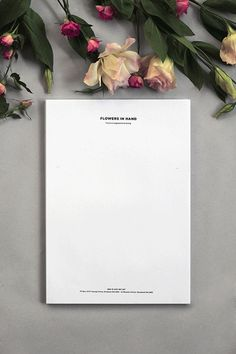Flowers in Hand by Oh Babushka , via Behance #personalised #styling #sketch #header #notepad #layout #flowers