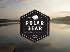 Dribbble - polar bear plunge logo by alexander michalko #logo #polar #crest #bear