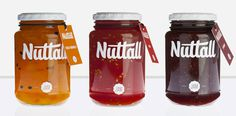 Nuttal | Lovely Package #script #jam #packaging #preserves #brush