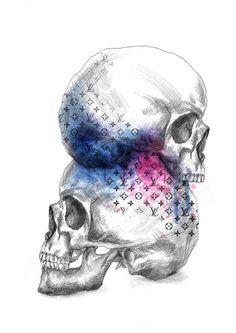 Time passing pencil draw, digital media #project #illustrator #design #illustrations #ilustracja #art #poland #logo #skull #victim #death #fashion