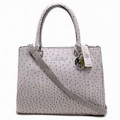 Michael Kors Bedford Ostrich Tote Gray #shoes
