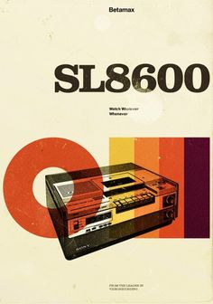 marius-roosendaal44 | Fubiz™ #advertisement #design #retro #video #betamax #poster #sony