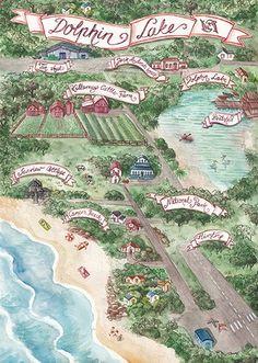 Magic Suitcase #lettering #book #map #australian #sea #watercolor #hand #bush #watercolour