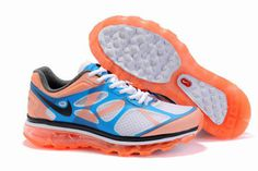 Nike Air Max 2012 White Black Bright Mango Bright Blue-Womens