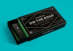 Packaging for Triumph & Disaster's travel kit On The Road designed by DDMMYY