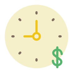 See more icon inspiration related to time, clock, money, business and time is money on Flaticon.