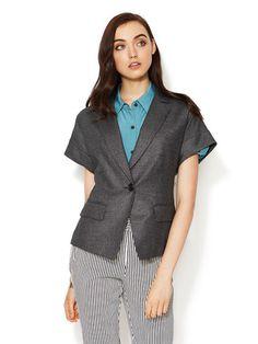 Hodo Jacket with Ribbon Tie Back