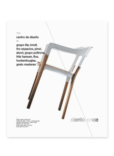 Ciento8 #white #lines #modern #chair #layout #furniture #minimal #helvetica #typography