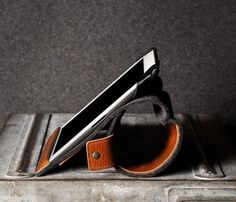 Leather And Felt iPad Case #gadget