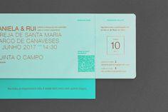 Gen Design Studio: travel wedding invitation