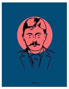 Marcel Proust #proust #authors #michael #literature #illustration #constantine