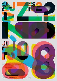 graphic-design-ilg-slash-trub #design #art #poster #swiss #graphic #colourful #colour