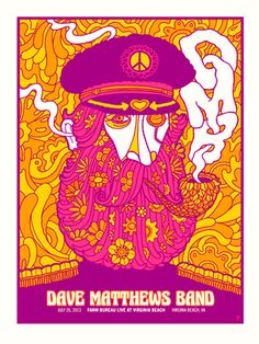 dmb 2013 VIRGINIA BEACH ADM PEACELOVE | Gig Poster Archive Archives | Page 3 of 47 | Methane Studios #methane