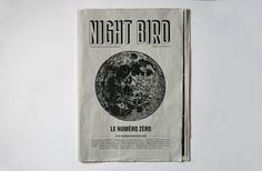 Night Bird on Behance #print #newspaper #cover #layout #editorial #magazine