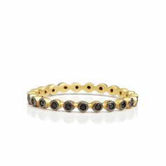 Black Stone Beaded Ring – Freida Rothman | Price: $50.00 | Product details @ https://bit.ly/2m7IrQ3. Buy now! #Rings #Jewelry #Fashion #FreidaRothman #NYC #NewYork #Brooklyn
