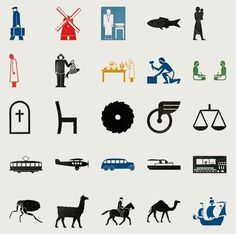The Pictograms of Gerd Arntz | Colorcubic #pictogram #icon #logo #gerd #arntz