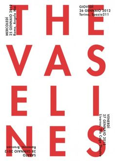 GIANDOMENICO CARPENTIERI #gdc #the #vaselines #bla #poster #typography