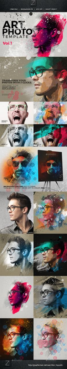 Art Photo Template-grunge style