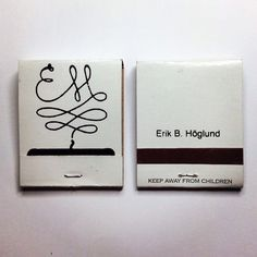 EH matchbooks #silkscreen #print #screen #matches #matchbook #eh